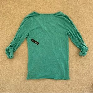a.n.a Tops - a.n.a 3/4 Sleeve T-Shirt, Heathered Green, Size L